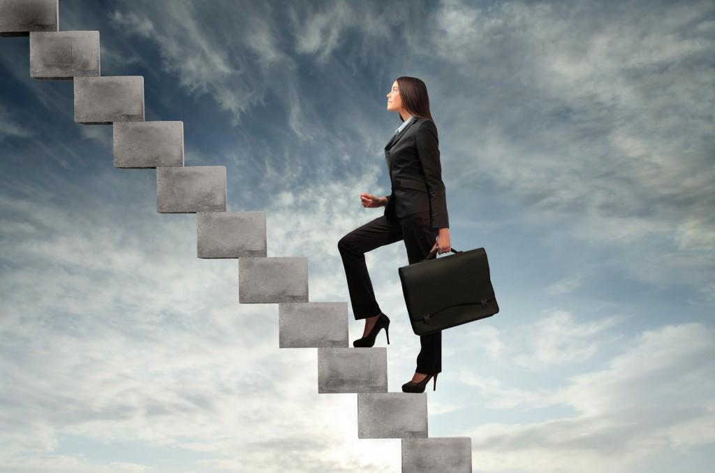 metas escalera alcanzar